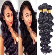 XCCOCO Hair Brazilian Virgin Hair Bundles 3pcs 7A Unprocessed Loose Human Hair Weaves Brazilian Loose Deep Wave Natural Hair Products