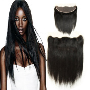 Charming Brazilian Straight Virgin Hair Ear To Ear Full Lace Frontal Closure 33cm x 10cm Straight hair Unprocessed Remy Human Hair Lace Front Closures Free Part With Baby Hair Bleached Knots