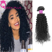Queen Plus Hair 7A Unprocessed Brazilian Kinky Curly Wave Virgin Natural Black Human Hair Products ,4 Bundles, Can be Dyed and Bleached