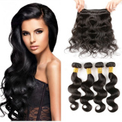 Charming Indian Body Wave Virgin Hair 4 Bundles 100% Unprocessed Virgin Indian 400g Remy Human Hair Body Wave Natural Colour