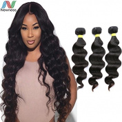 Newness 2016 Unprocessed Brazilian Human Hair Weaving Natural Black Virgin Hair 8A Grade Body Wave 3Bundles/Lot