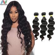 Newness 2016 Unprocessed Brazilian Human Hair Weaving Natural Black Virgin Hair 8A Grade Body Wave 3Bundles/Lot