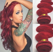 """Romantic Angels12""""~70cm Remy Brazilian Human Hair Weaves Body Wave Hair Weft 1 Bundle 100g Red"""