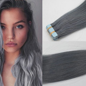 Romantic AngelsTape in Skin Weft Human Hair Extensions 20pcs/pack Dark Grey