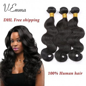 "V-Emma Hair 6A Unprocessed Brazilian Virgin Hair Body Wave 3 Bundles Cheap Virgin Human Hair Extensions Natural Colour 16""16""18"""