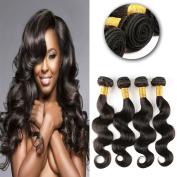 Charming Brazilian Body Wave Virgin Hair 4 Bundles Unprocessed Virgin Brazilian Wavy Human Hair Weave Extensions Natural Colour 95-100g/pc