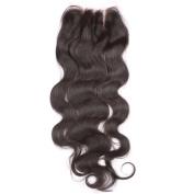 ALYSSA Hair Body Wave Top Closure 3 Part Natural Look Brazilian Human Hair Lace Closure With Baby Hairs 10cm x 10cm Virgin Hair Closure Bleached Knots 25cm