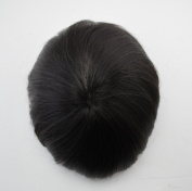 Stock Natural Black Toupee for men all skin Vloop invisible knots