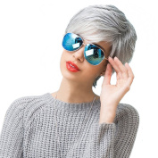 Styler Cosplay Silver Short Natural Wig for Women