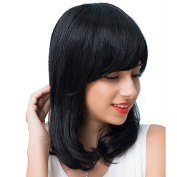 Styler New Design Wig - Wavy Bottom with Soft Bangs Medium Bob Wigs for Women