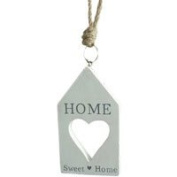 12cm Home Sweet Home hanging wooden House Sign Plaque