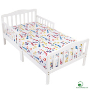 YourEcoFamily Cotton Fitted Crib Sheet - Certified Organic Cotton - Softest Mattress Sheet For Your Baby, Toddler Boy or Girl