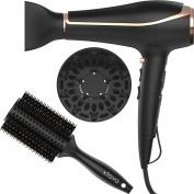 xtava Voluminous Toolkit - Double Shine Ionic Hair Dryer & Double Bristle Body Brush