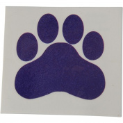 Purple Paw Print Temporary Tattoos