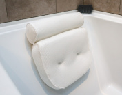 Non Slip Luxury Spa Bath Pillow with Head, Neck, Shoulder and Back Support. Extra Thick, Soft and Large 36cm x 33cm for the ultimate relaxation experience. Fits any tub and is Anti-Bacterial by Viventive.