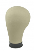 11.5 Size Black Base Cork Canvas Head Block Mannequin Manikin Head Wig Toupee Style Dry Dye 60cm