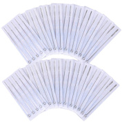 AW 100pcs Tattoo Needles Disposable Sterile Mixed Sizes 3RL 5RL 7RL 9RL 5RS 7RS 9RS 5M1 7M1 9M1