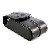 Edwin Jagger Black Leather Travel Case for Double Edge Razors case