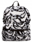 Furry Animal Print Backpack