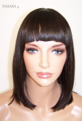 China Bang Bob Style Weave Cap Wig Heat Safe Tam