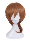 Nuoqi Japan Men's Anime Nakahara Chuya Orange Brown Curly Cosplay Wig