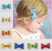 Baby Kids Hair Accessories Cute Bowknot Children Bowknot Hairpin Child Clip Baby Hair Clips 10Pcs