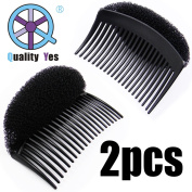 QY 2PCS Black Volume Hair Bump Up Comb Hair Base Styling Comb Hair Style Accessories