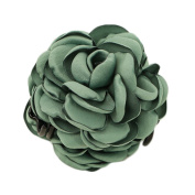 Dark Green Women Ladies Rose Barettes Flower Clips for Hair Hair Stick Hair Ties