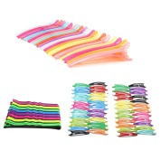 Professional Multicolor 20pcs Plastic Duck Teeth Bows Hair Clips Styling - 50pcs Baby Girls Toddler Hair Bow Snap Alligator Clips, 25pcs Bobby Pin