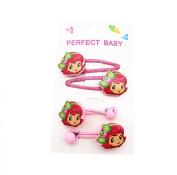 4Pcs Lovely Girl Pattern Kids Girls Hair Clip Hair Rope Set Best for Christmas Gift