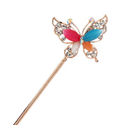 Rhinestone Butterfly Retro Women Girls Hair Pin Hair Stick