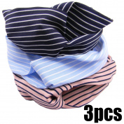 QY 3PCS Women Elastic Turban Head Wrap Headband Twisted Hair Band Stretchy Athletic Headbands Yoga Headband 3 Colours