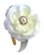 Sparkling Ivory and Pearl Rhinestone Flower Girl Bridesmaid Wedding Headband