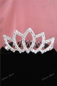 Crystal Rhinestone Flower Girl Wedding Bridal Prom Bridesmaid Small Tiara Comb