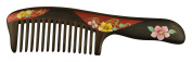 Mr. & Mrs. Comb Natural Hematoxylin Wood Handle Comb with Painting Artwork
