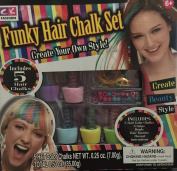 Ck Fashion Funky Hair Chalk Set with Accessories