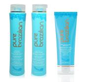 Pure Brazilian Anti-frizz Shampoo + Conditioner 400ml + Deep Conditioning Masque 240ml