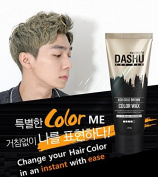 Premium DASHU Ash GOLD BROWN Colour Hair Wax - 10 Natural Plant Extracts, Instant Colour Change with No Damage / 100g