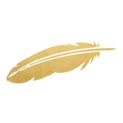 Gold Feather set of 25 assorted premium waterproof metallic gold boho temporary jewellery foil Flash Tattoos - Party Favours - Party Supplies - Festival