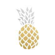 Pineapple set of 25 assorted premium waterproof metallic gold & silver tropical temporary jewellery foil Flash Tattoos
