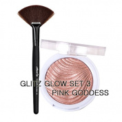 JCAT GLOW GIRL HIGHLIGHTER WITH FAN BRUSH SET BY GLITZ - 103 PINK GODDESS