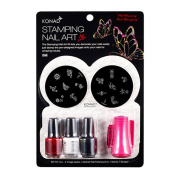 Konad Stamping Nail Art DIY Kit Konad Set B with One Ganda Nail Buffer