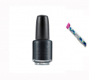 Konad Stamping Nail Art DIY Special Nail Polish Black 5ml with One Ganda Nail Buffer