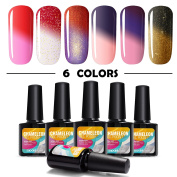 Modelones Soak Off UV LED Gel Nail Polish Multicolor Chameleon Colour Changing Set Of 6pcs X 10ml - Kit Set