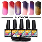 Modelones Soak Off UV LED Gel Nail Polish Multicolor Chameleon Colour Changing Set Of 6pcs X 10ml - Kit Set
