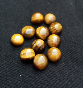 10.75Cts. Natural Tiger Eye Round Shape AAA Quality 6x6 mm Cabochon Gemstone
