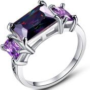 Narica Womens Brilliant Rainbow Topaz Cubic Zirconia Engagement Ring