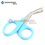 OdontoMed2011® PARAMEDIC UTILITY BANDAGE FIRST AID STAINLESS STEEL TRAUMA EMT EMS SHEARS SCISSORS 2.2m TEAL ODM