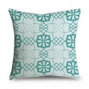 FabricMCC Throw Pillow Cover Green Floral Square Accent Decorative Pillow Case Cushion Cover 18x18