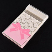 100 Pcs Lovely Pink Cake Gift Packages OPP Plastic Package Bag Bow Design Candy Cute Paper Pack